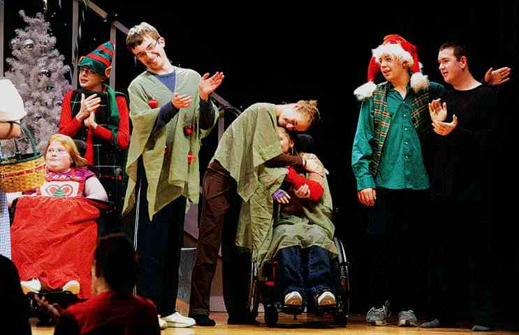 A great play to include special needs kids!  Don't exclude wheelchairs, they will work just fine!