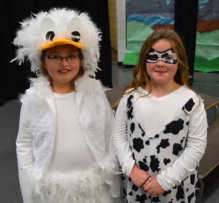 Lucy the Goose and Boo Boo Cow