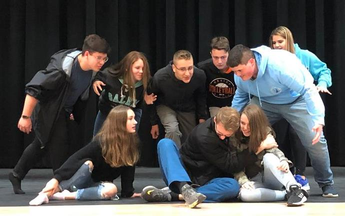 High School students rehearse ArtReach's THE LEGEND OF SLEEPY HOLLOW.