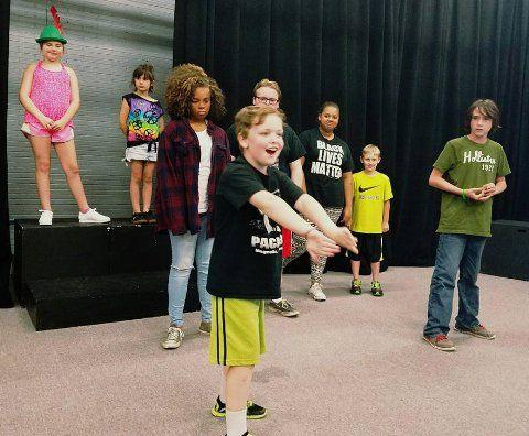 ArtReach's Peter Pan in rehearsal.
