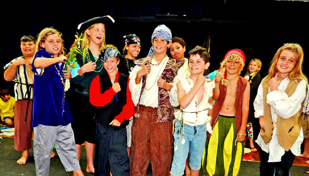 What can be more fun than playing pirates?  These kids love ArtReach's TREASURE ISLAND: YOUNG PIRATES OF THE CARIBBEAN!