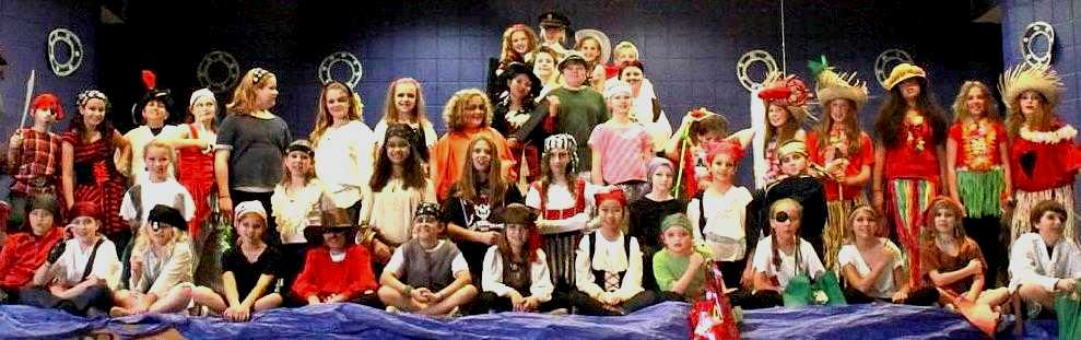 Every student has a great role in TREASURE ISLAND:  YOUNG PIRATES OF THE CARIBBEAN!